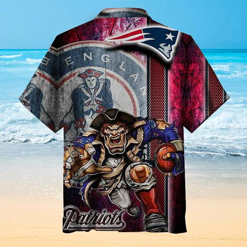 New England Patriots Retro Hawaiian Shirt