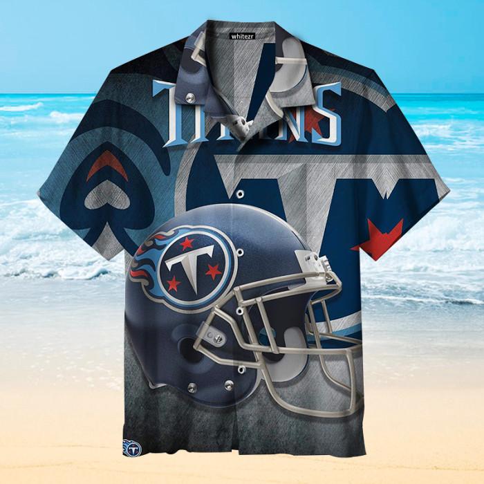 Tennessee Titans Helmet Hawaiian Shirt