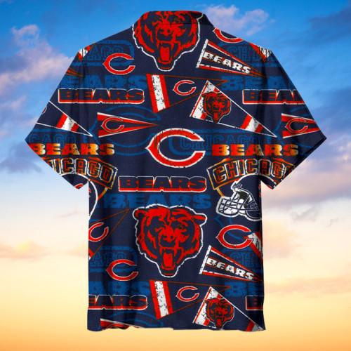 The Chicago Bears Print Hawaiian Shirt