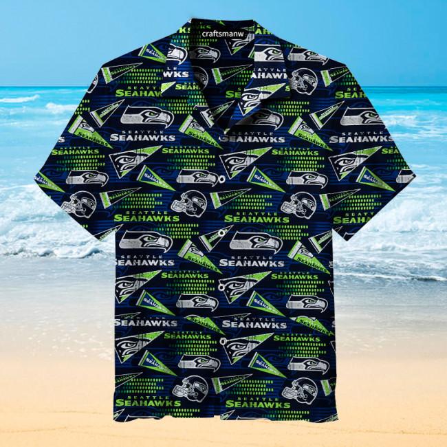The Seattle Seahawks Print Hawaiian shirt