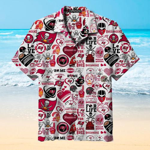 Tampa Bay Buccaneers NFL Football Retro Print Unisex Hawaiian Shirt
