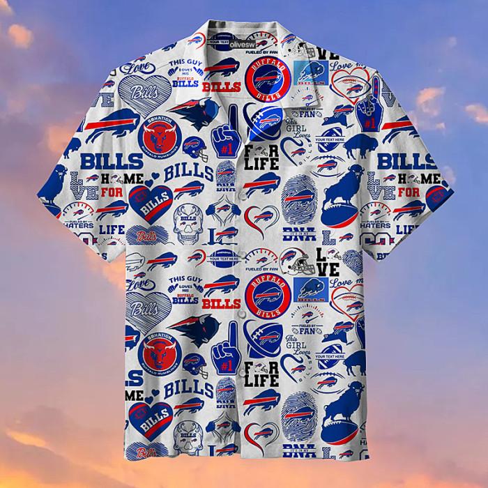 NFL-Buffalo Bills Retro Print Unisex Hawaiian Shirt