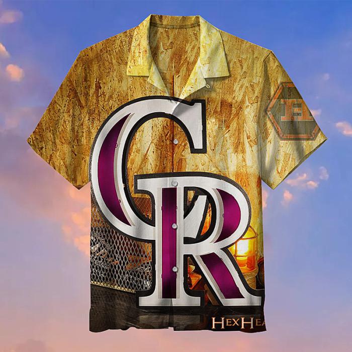 MLB-San Colorado Rockies Retro Print Unisex Hawaiian Shirt
