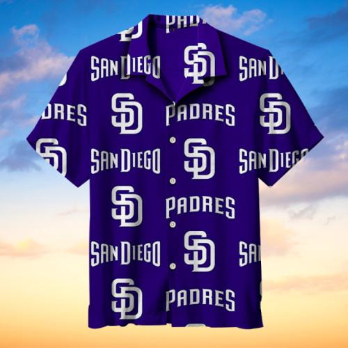 MLB-San Diego Padres Retro Print Unisex Hawaiian Shirt