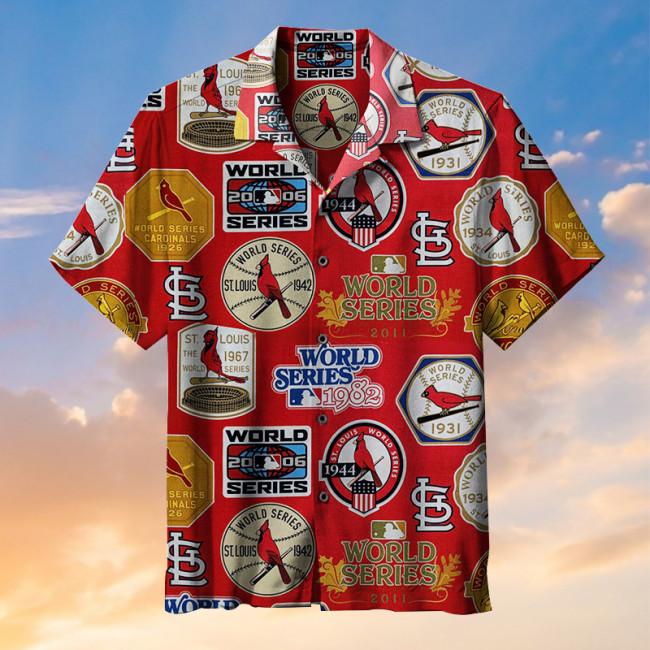 MLB-St. Louis Cardinals Retro Print Unisex Hawaiian Shirt