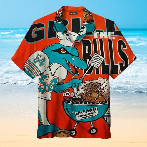 NFL-Miami Dolphins Print Unisex Hawaiian Shirt