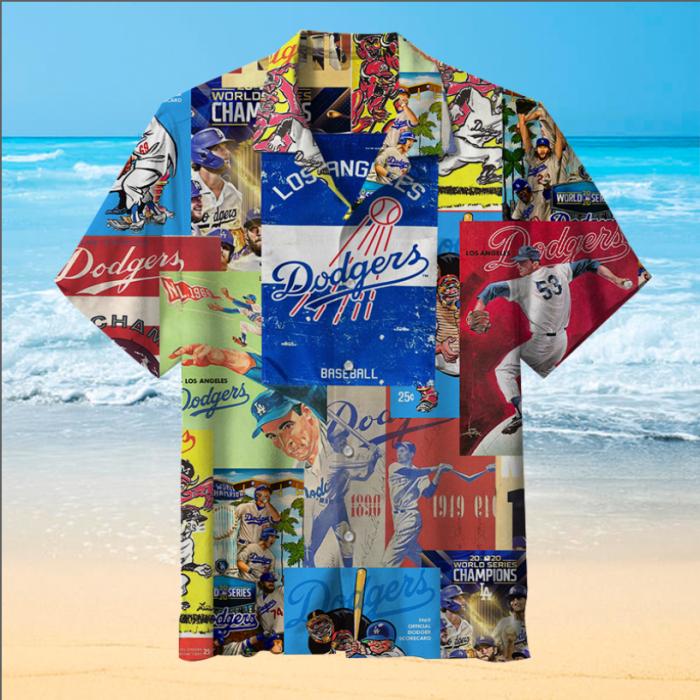 MLB-Los Angeles Dodgers Retro Print Unisex Hawaiian Shirt