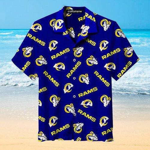 NFL-Los Angeles Rams Retro Print Unisex Hawaiian Shirt