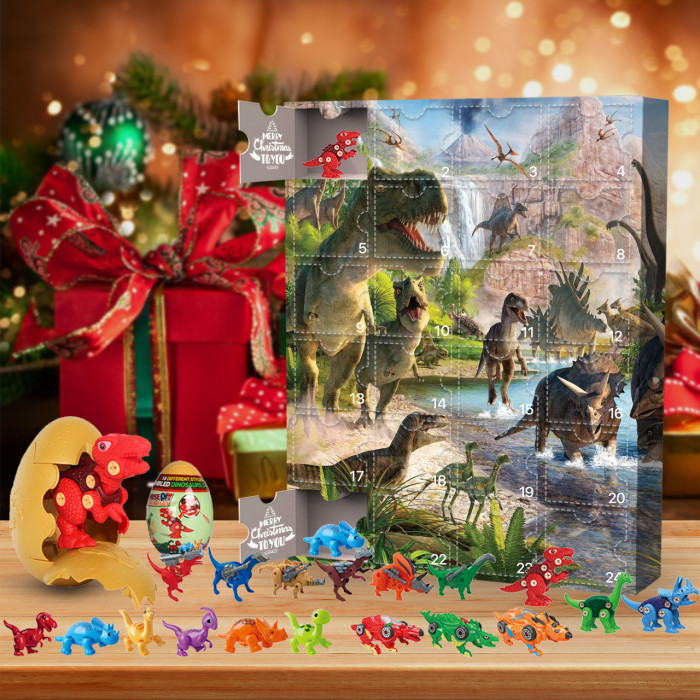 Dinosaur Montage Advent Calendar 2021 - Contains 24 gifts