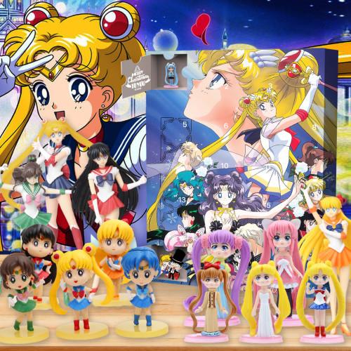 Sailor Moon Christmas 24 days Advent Calendar - 🎉give away 24PCS Sailor Moon gifts