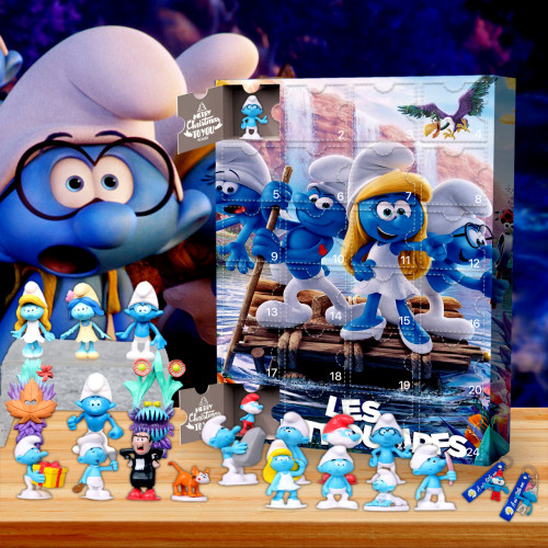 The Smurfs Christmas 24 days Advent Calendar - 🎉give away 24PCS The Smurfs gifts