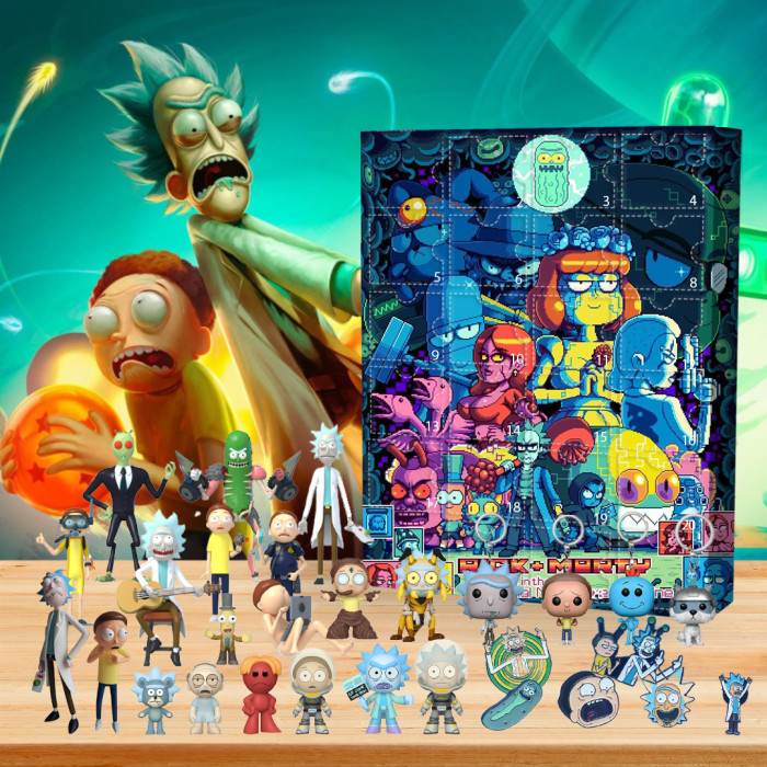 Rick and Morty Adventure Advent Calendar -- 🎉Give away 24PCS gifts