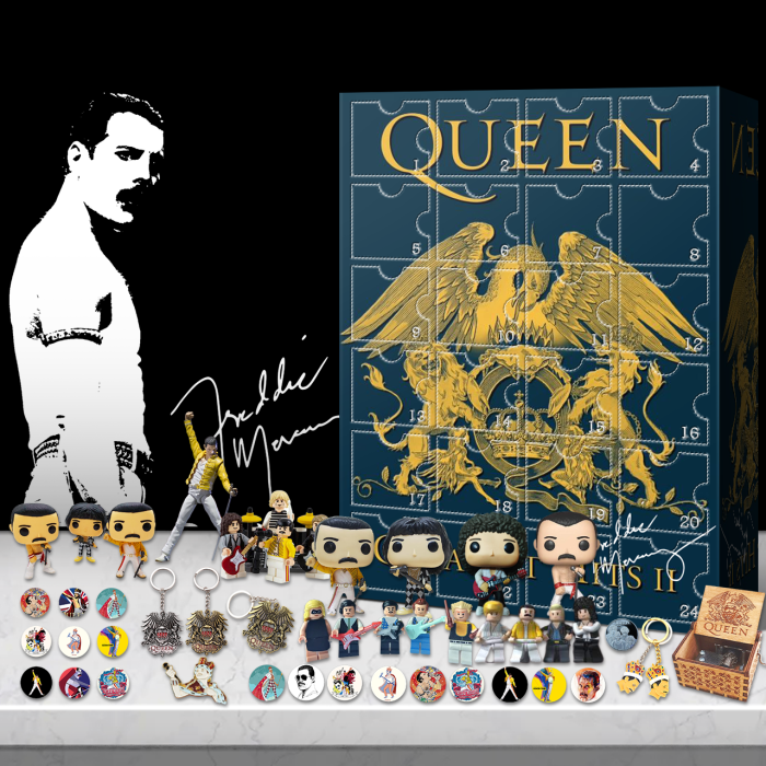 QUEEN- Freddie Mercury's 30th Anniversary Edition Advent Calendar-- 🎉Give away 24PCS gifts