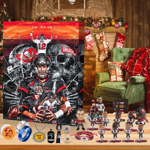 Tampa Bay Buccaneers No. 12 Tom Brady-Christmas Advent Calendar