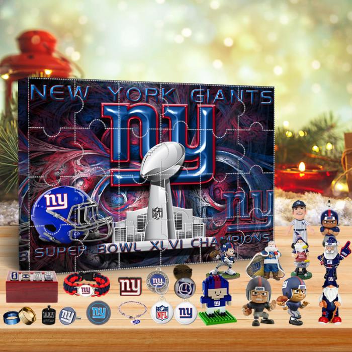 New York Giants Super Bowl XLVI Champions Advent Calendar🎁 The best gift choice for fans