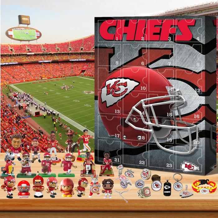 Kansas City Chiefs- Christmas Advent Calendar🎁 The best gift choice for fans
