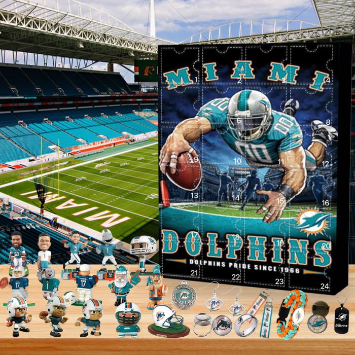 Miami Dolphin Christmas Advent Calendar🎁 The best gift choice for fans