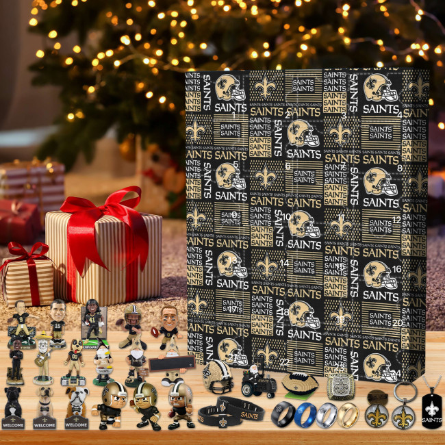 New Orleans Saints Christmas Advent Calendar🎁I love the Saints