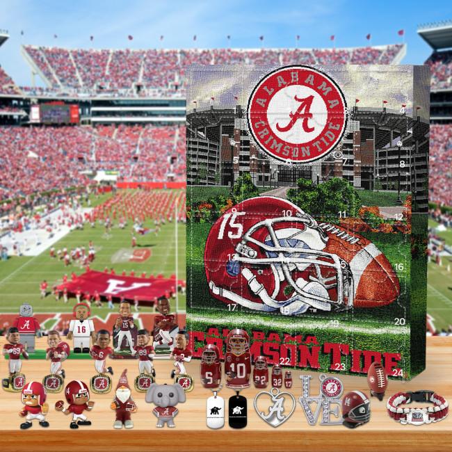 Alabama Crimson Tide football- Christmas Advent Calendar🎁 The best gift choice for fans