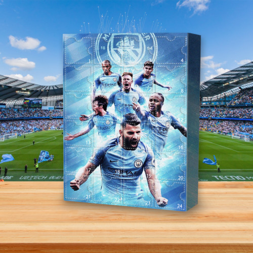 ⚽⚽Manchester City Football Club Theme Advent Calendar-- 🕸The One With 24 Little Doors🔥Limited Edition🔥