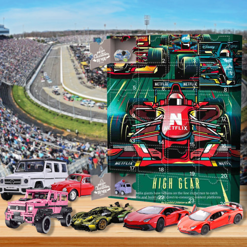 Racing car Advent Calendar-the calendar with 24 small doors