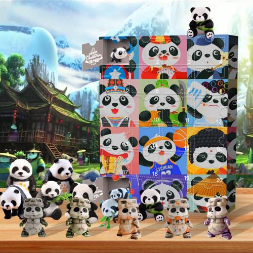 panda Advent Calendar-the calendar with 24 small doors