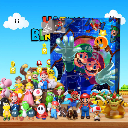 Mario Advent Calendar-the calendar with 24 small doors