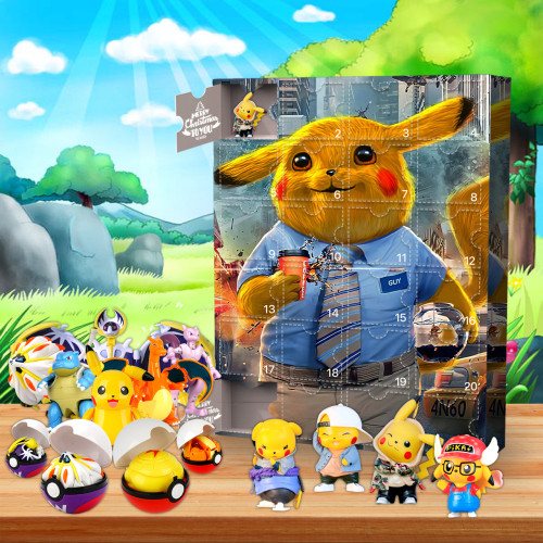 Pikachu Advent Calendar-the calendar with 24 small doors