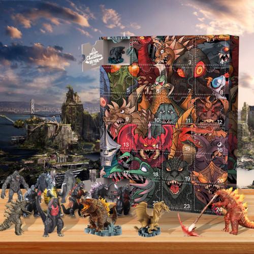 Godzilla Advent Calendar-the calendar with 24 small doors