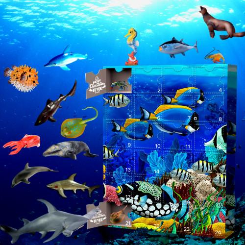 Sea Life Advent Calendar-Calendar with 24 Small Gifts