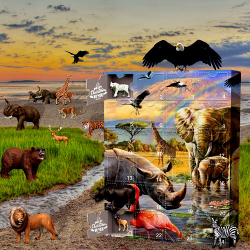 Animal-Advent Calendar-Calendar with 24 Small Gifts
