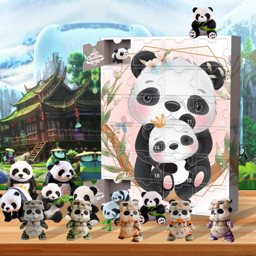 Christmas-panda-Advent Calendar-Calendar with 24 small gifts