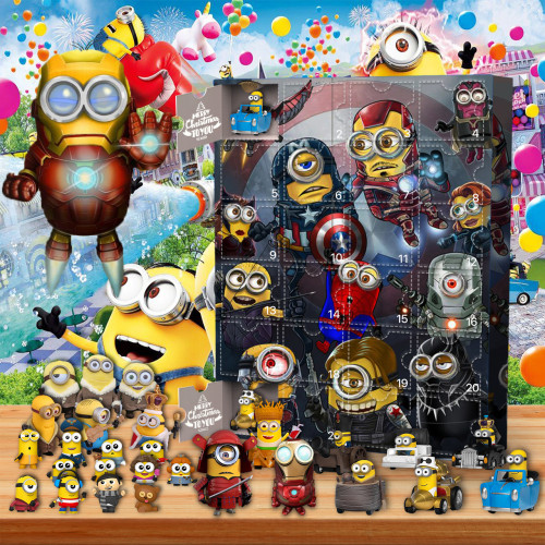 Minions-Advent Calendar-Calendar with 24 Small Gifts