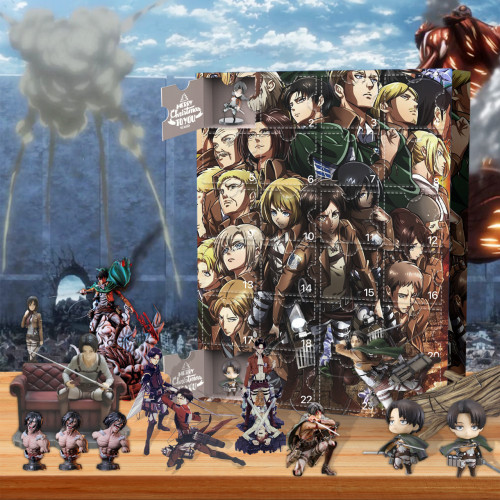 Christmas-Attack on Titan-Advent Calendar-Calendar with 24 small gifts