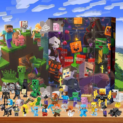 Christmas-Minecraft-Advent Calendar-Calendar with 24 small gifts