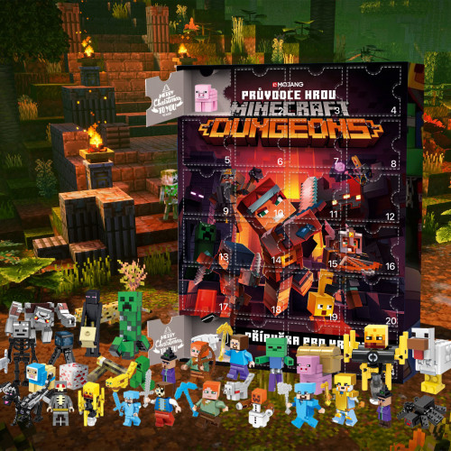 Minecraft-Advent Calendar-Calendar with 24 small gifts