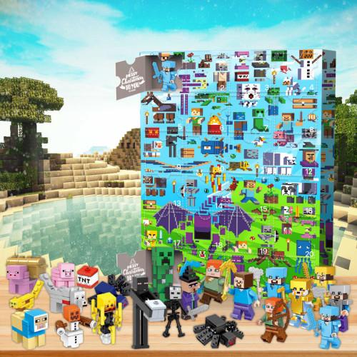 Minecraft -Advent Calendar-Calendar with 24 small gifts