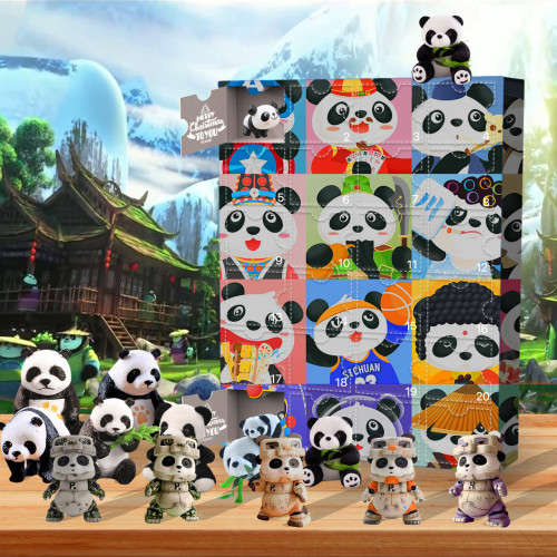 Christmas panda Advent Calendar-the calendar with 24 small doors