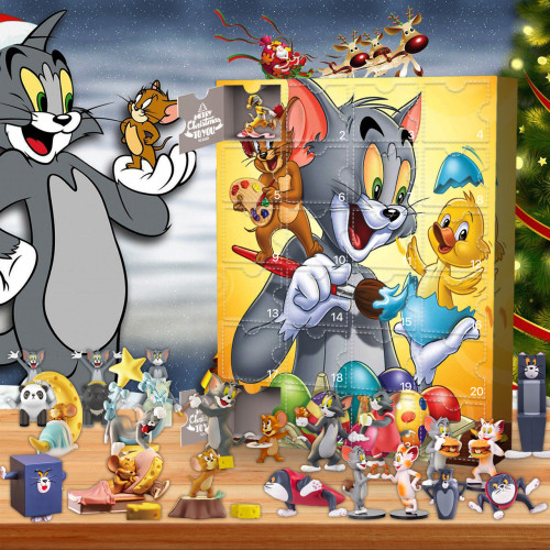 Tom and Jerry-Advent Calendar-Calendar with 24 small gifts