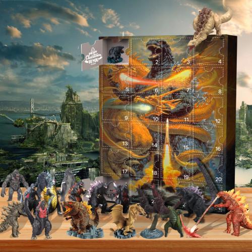 Godzilla-Advent Calendar-Calendar with 24 small gifts