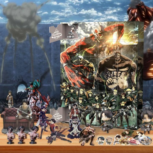 Attack on Titan-Advent Calendar-Calendar with 24 small gifts