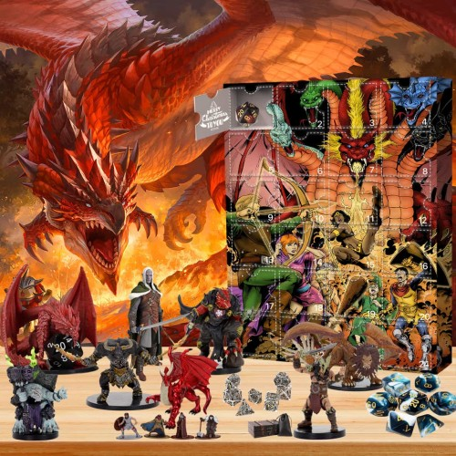 Dungeons & Dragons-Advent Calendar-Calendar with 24 small gifts