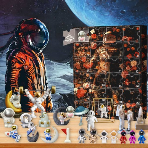 astronaut-Advent Calendar-Calendar with 24 small gifts