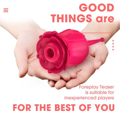 Rose Toys, Sucking Vibrator For Women With Intense Suction 2 in 1 Vaginal Clitoris Stimulation Erotic Nipple Female Sex Toys