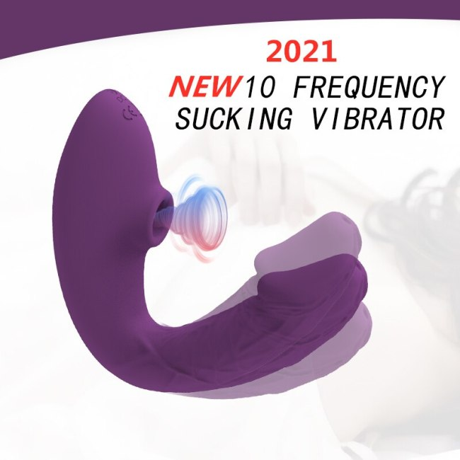 New Clitoris Sucker Dildo Vibrator for Woman Wireless Vibrator Oral Blowjob Clit Stimulator Vagina Sucking Vibrators Adult Sex
