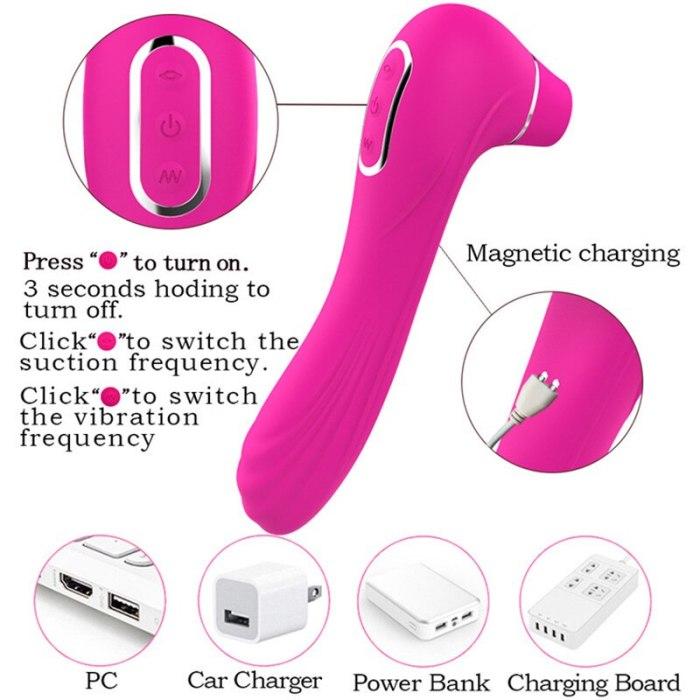 Sex toy for women  Sucking vibrator blowing tongue vibrating nipple sucking adult oral  licking clitoris vaginal stimulator shop