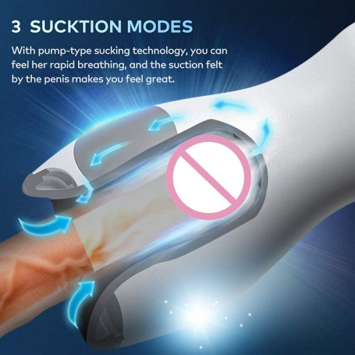 Sucking Oral Sex Male Masturbation Cup Real Body Temperature Mock Tongue Tease Particle Circulation Stimulation Sex Toys For Men