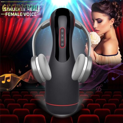 2021 6 Frequency Sucking Masturbation Cup Voice Interactive Oral Sex Cup Realistic Vagina Pussy Sex Toys For Men вагина