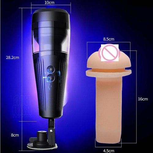 Powerful Telescopic Masturbator Automatic for Men Silicone Vagina Real Pussy Power Piston 18+ Sex Toys for Men Masturbation shop