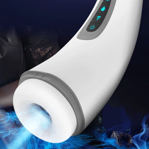 Real Automatic Sucking Male Masturbator Oral Deep Throat Blowjob Powerful Clip Suction Vibrating Heating Moaning Sex Toy For Men